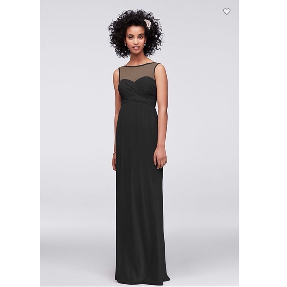 David\'s Bridal Dresses | Davids Bridal Long Mesh Dress Illusion ...